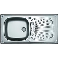 Wickes Space Saving Single Bowl Kitchen Sink Stainless Steel