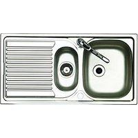 Wickes 1 1/2 Bowl Reversible Kitchen Sink with Tap Stainless Steel