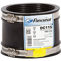 Flexseal PVC To PVC Flexible Drain Adaptor Black