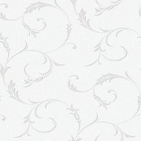 Graham & Brown Superfresco Colour Athena Decorative Wallpaper Grey - 10m