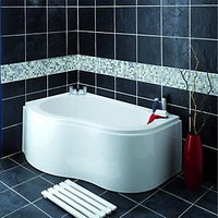 Wickes Wave Corner Bath Panel White 1520mm