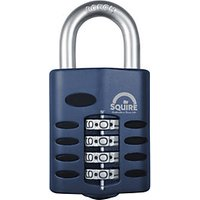 Squire 50mm combination padlock c/w hardened steel shackle