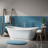 Wickes Metro Light Blue Ceramic Tile 200 x 100mm