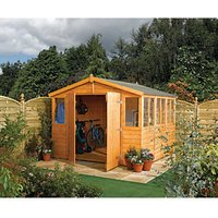 Rowlinson Shiplap Honey Brown Workshop - 9 x 18 ft