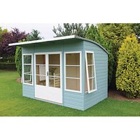 Shire Orchid Curved Roof Double Door Summerhouse - 10 x 6 ft - With Assembly
