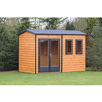 Shire Double Glazed Timber Apex Garden Office - 10 x 7 ft