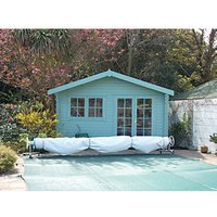 Shire Abbeyford Double Door Garden Cabin - 14 x 12 ft