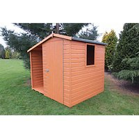Shire Tongue & Groove Shed With Side Storage - 7 x 6 ft