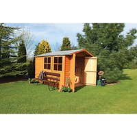 Shire Overlap Double Door Shed - 10 x 7 ft