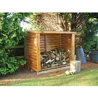 Shire Large Timber Log Store - 6 x 3 ft