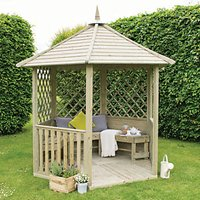 Forest Garden Burford Lattice Panel Timber Gazebo with Assembly - 2810 x 2450 mm