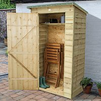 Forest Garden Overlap Timber Tool Store Pressure Treated with Assembly - 4 x 2 ft