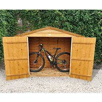 Forest Garden Overlap Timber Bike Store Dip Treated with Assembly - 7 x 3 ft