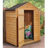 Wickes Apex Overlap Dip Treated Windowless Shed - 5 x 3 ft