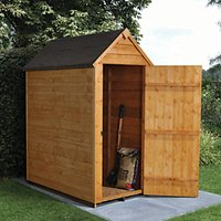 Forest Garden Windowless Apex Overlap Shed - 3 x 5 ft