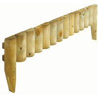 Rowlinson Half Log Timber Border Fence Pack of 4 - 1000 x 150 mm