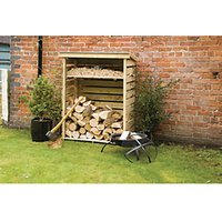 Rowlinson Timber Small Log Store Pressure Treated - 4 x 2 ft