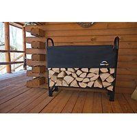 Shelterlogic Steel Frame Log Rack Black - 4 x 2 ft