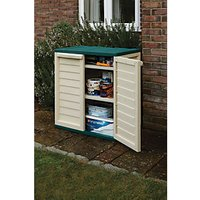 Rowlinson Plastic Lockable Utility Cabinet Green & Cream - 2 x 12 ft