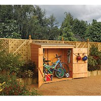 Rowlinson Timber Wall Store Honey Brown - 6 x 3 ft