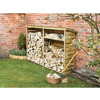 Rowlinson Timber Large Log Store - 8 x 2 ft