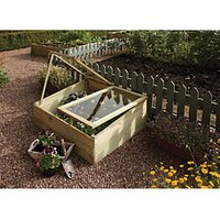 Rowlinson Natural Styrene Glazing Softwood Pent Cold Frame - 1 x 3 ft