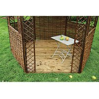 Rowlinson Willow Timber Gazebo Floor - 2300 x 2000 mm