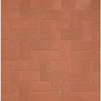 Marshalls Driveline 50 Textured Block Paving - Red 200 x 100 x 50mm Pack of 488