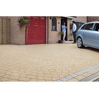 Marshalls Drivesett Argent Textured Buff Block Paving Driveway Pack - 10.75 m2