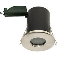 Luceco Fire Rated Brushed Steel Downlight - GU10