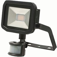 LUCECO LED FLOOD PIR 8W BLACK