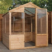 Mercia Timber Framed Apex Greenhouse - 4 x 6 ft - with Assembly