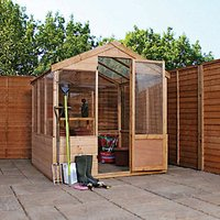 Mercia Timber Framed Apex Greenhouse - 6 x 6 ft - with Assembly
