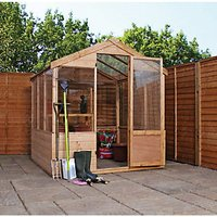 Mercia Timber Framed Apex Greenhouse - 8 x 6 ft