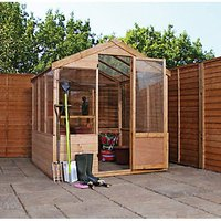 Mercia Timber Framed Apex Greenhouse - 8 x 6 ft - with Assembly