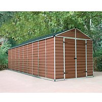 Palram Skylight Plastic Apex Shed Amber - 8 x 20 ft