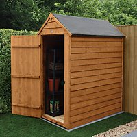 Wickes Apex Overlap Dip Treated Windowless Shed - 3 x 5 ft with Assembly