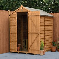 Wickes Apex Overlap Dip Treated  Windowless Shed - 4 x 6 ft with Assembly