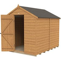 Wickes Apex Overlap Dip Treated Windowless Shed - 6 x 8 ft with Assembly
