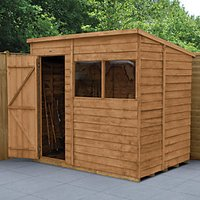 Wickes Pent Overlap Dip Treated Shed - 7 x 5 ft with Assembly