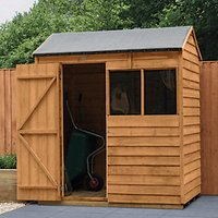 Wickes Reverse Apex Overlap Dip Treated Shed  - 6 x 4 ft with Assembly