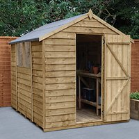 Wickes Apex Overlap Pressure Treated Shed - 6 x 8 ft with Assembly