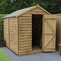 Wickes Apex Overlap Pressure Treated Windowless Shed - 6 x 8 ft with Assembly