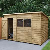 Wickes Pent Overlap Pressure Treated Shed - 10 x 6 ft with Assembly