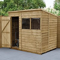Wickes Pent Overlap Pressure Treated Shed - 7 x 5 ft with Assembly