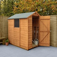 Forest Garden Apex Shiplap Dip Treated Shed - 4 x 6 ft with Assembly