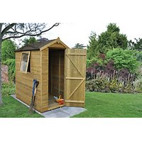 Forest Garden Apex Tongue & Groove Pressure Treated Shed - 4 x 6 ft with Assembly