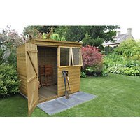 Forest Garden Pent Tongue & Groove Pressure Treated Shed - 7 x 5 ft with Assembly