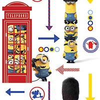 Graham & Brown Universal Minions Hello London Multicoloured Decorative Wallpaper - 10m