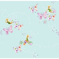 Graham & Brown Disney Fairies Just Add some Pixie Dust Multicoloured Decorative Wallpaper - 10m